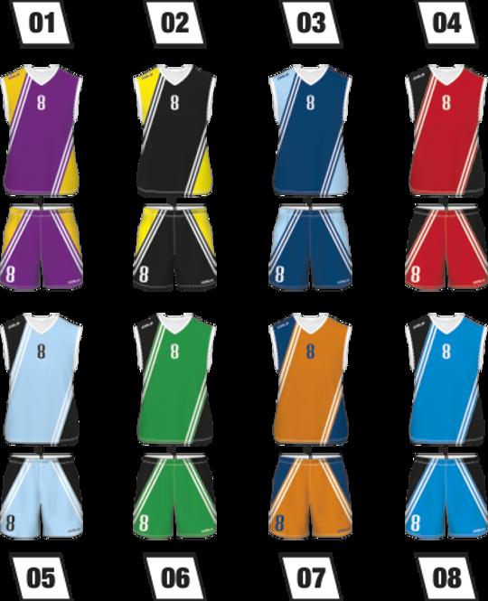 Strój do koszykówki Colo Dodge - SUBLIMACYJNY