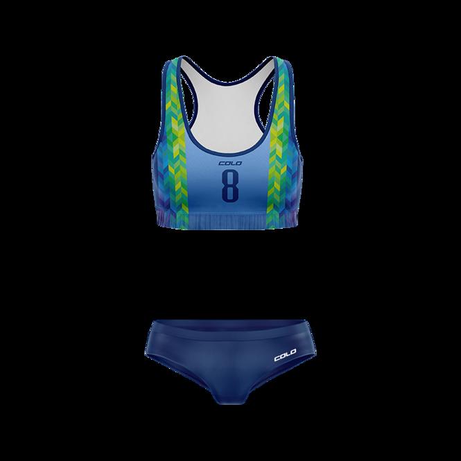 Strój do siatkówki plażowej Colo Calx - SUBLIMACYJNY